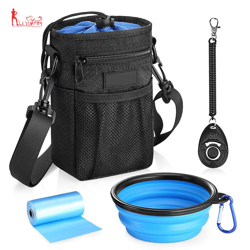 High Quality Waterproof <strong>Dog</strong> Treat Training Pouch Bag with Adjustable Belt, <strong>Dog</strong> Training Clicker, Water Bowl