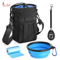High Quality Waterproof Dog Treat Training Pouch Bag with Adjustable Belt, Dog Training Clicker, Water Bowl