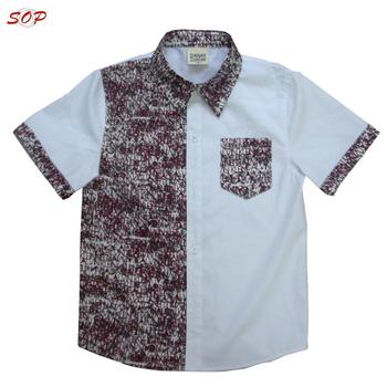 4f6606a17 New design cheap cotton kids model clothes print blouse boys polo shirts