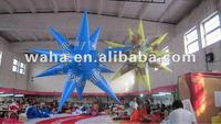 2012 new design led light inflatable star which can paint logo for advertising