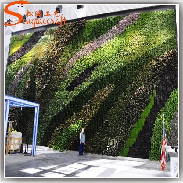 Jardim vertical parede paredes de pl stico planta for Bordillos de plastico para jardin