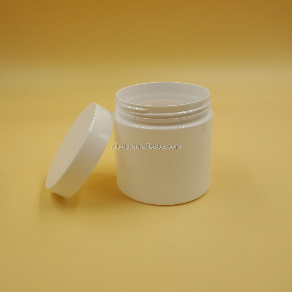 white PET cosmetic plastic jar 200ml PLASTIC CONTAINER