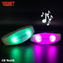 party supplies led sound activated lighting bracelet glow in dark