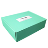 custom design logo corrugated paper color printed green wholesale mailer macarons boxes packaging and shipping