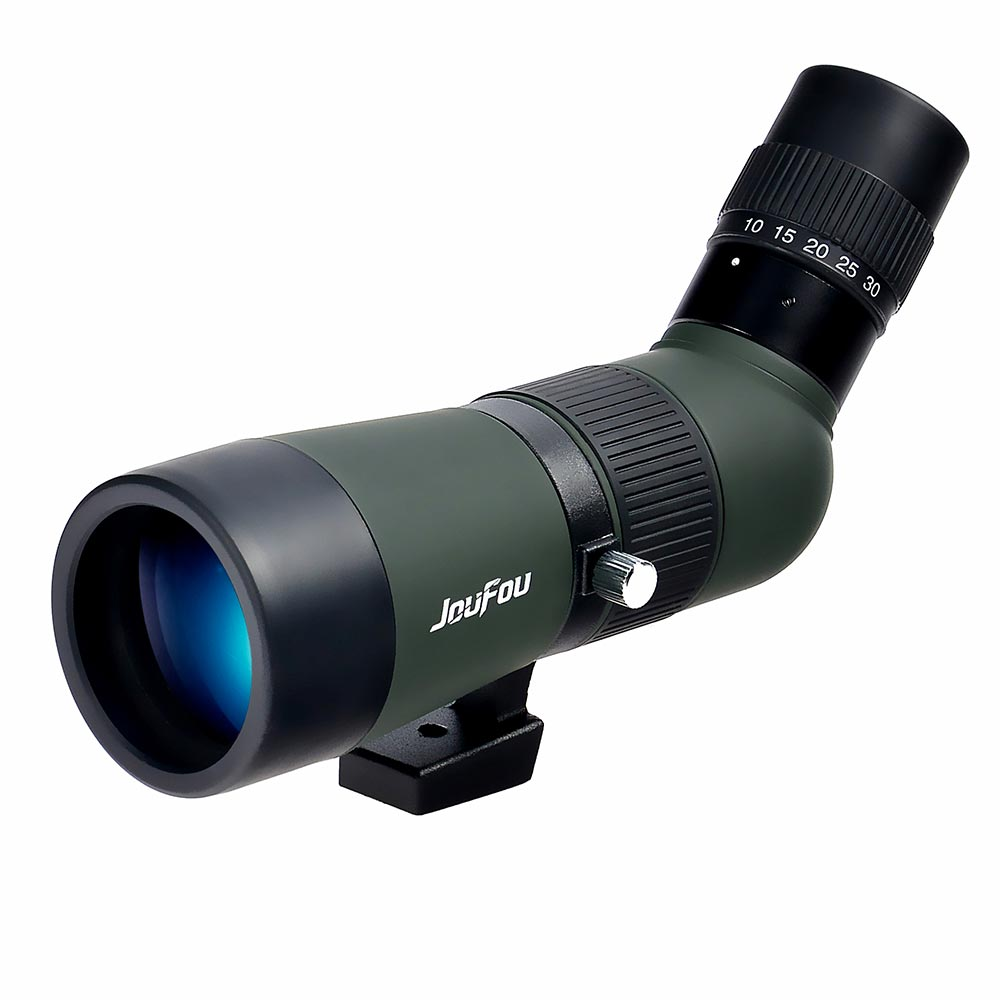 Outdoor optic Long Distance monocular telescope JOUFOU 10-30x50 Spotting Scope for Hunting