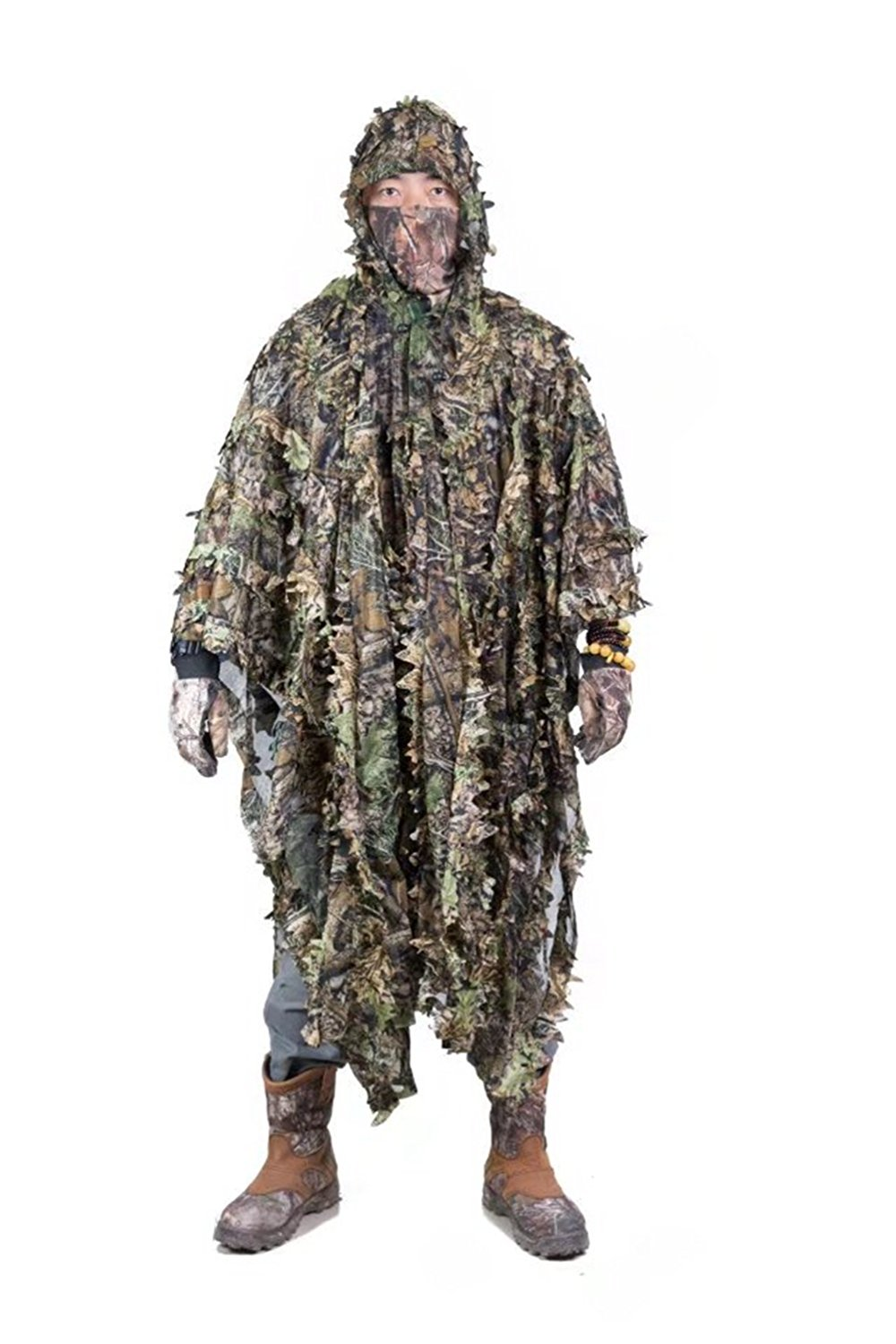 Buy Zicac Outdoor 3D Leaves Camouflage Ghillie Poncho Camo Cape