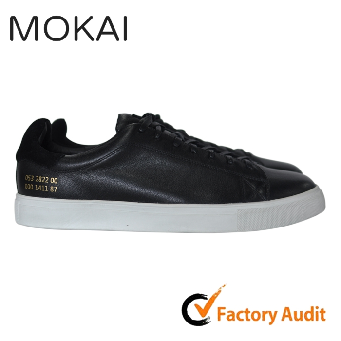 J001-MK37 China wholesale men shoes classic genuine leather sneaker
