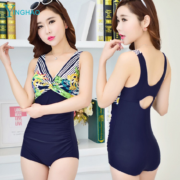 <strong>Sexy</strong> and beautiful back V with a pair of bra jumpsuits swim skirt