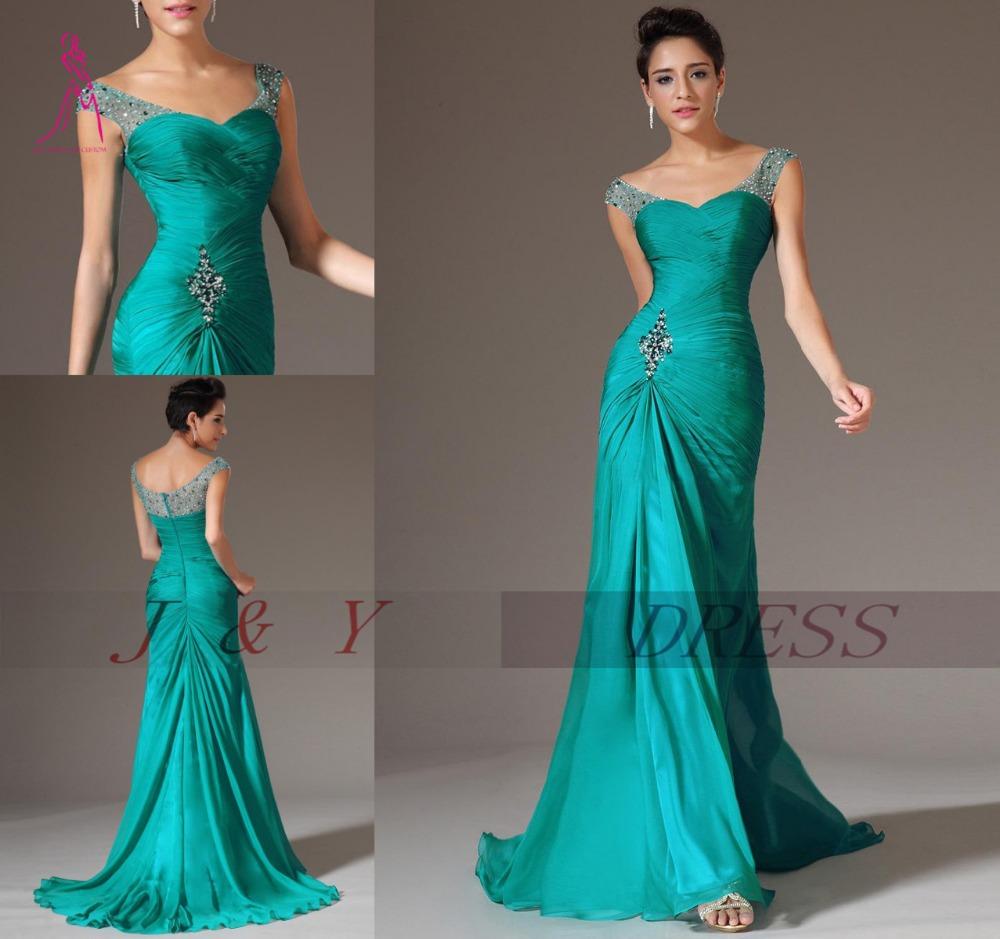 22d1347ce51 Vestido verde para boda de noche – Vestidos populares