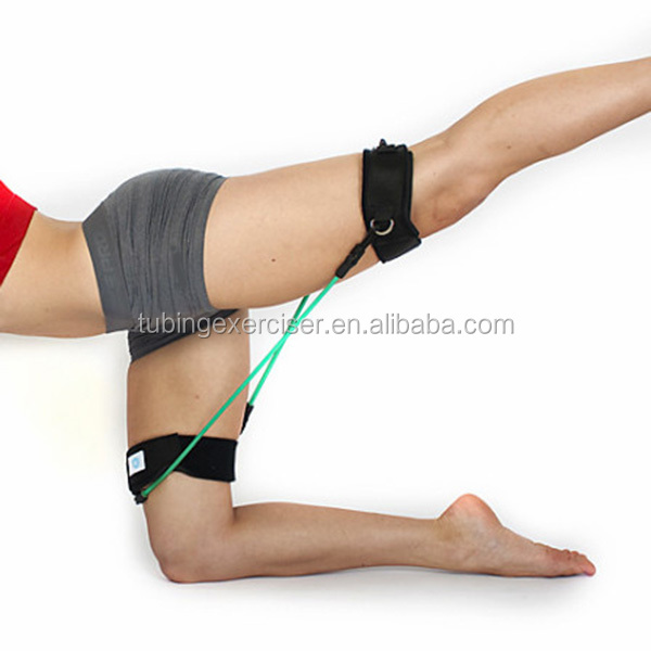 Leg stretch training exercise band leg strap