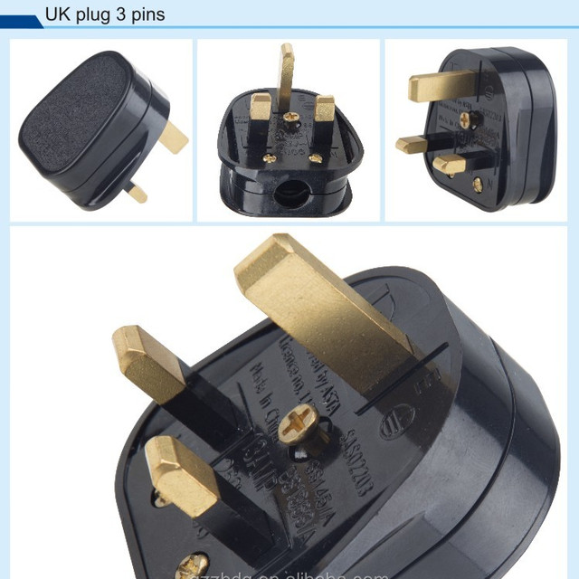 British UK Plug 13A Plug 3 Flat Pin