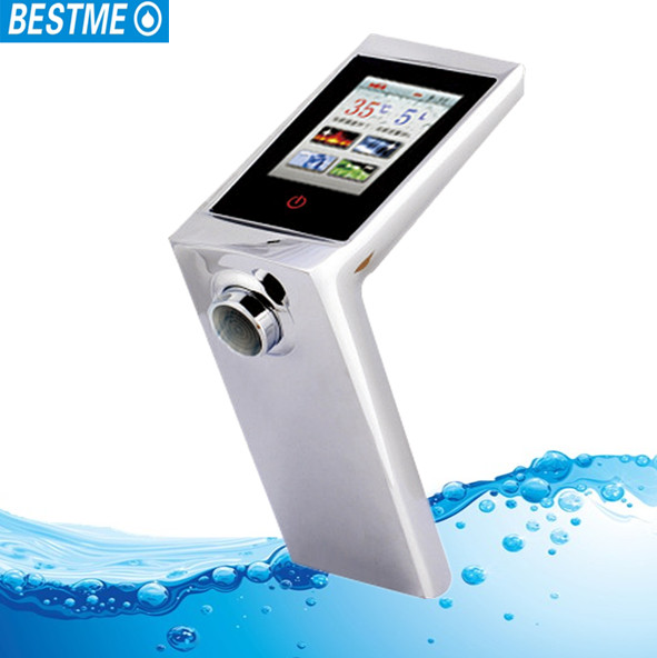new touch screen digital temperature control water faucet