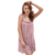 HSZ 0001 Spring New Arrival  Loose Sling sleeveless Sleepwear Sweety Girls type Lace Embroidery