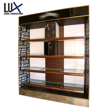 Customized High End Wine Display Shelf Wooden Liquor Furniture Cabinet -  Buy Wood Whisky Display Cabinet,Wine And Liquor Cabinet,Wooden Wine Display