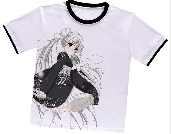 Free Shipping!3 Patterns Anime Yosuga no Sora Clothing Short Sleeve T-Shirt Cosplay Costumes