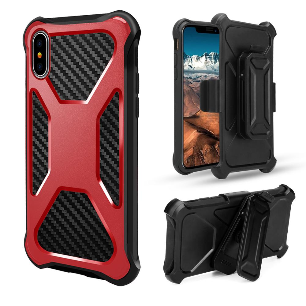 A017 2018 High Quality Resistant Silicone Cell Phone Case With Belt Clip Mobile phone case for OPPO Realme 3 F11 PRO