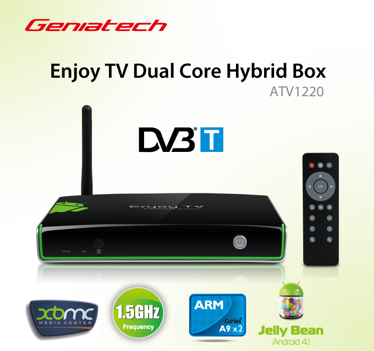 Hybrid android tv box