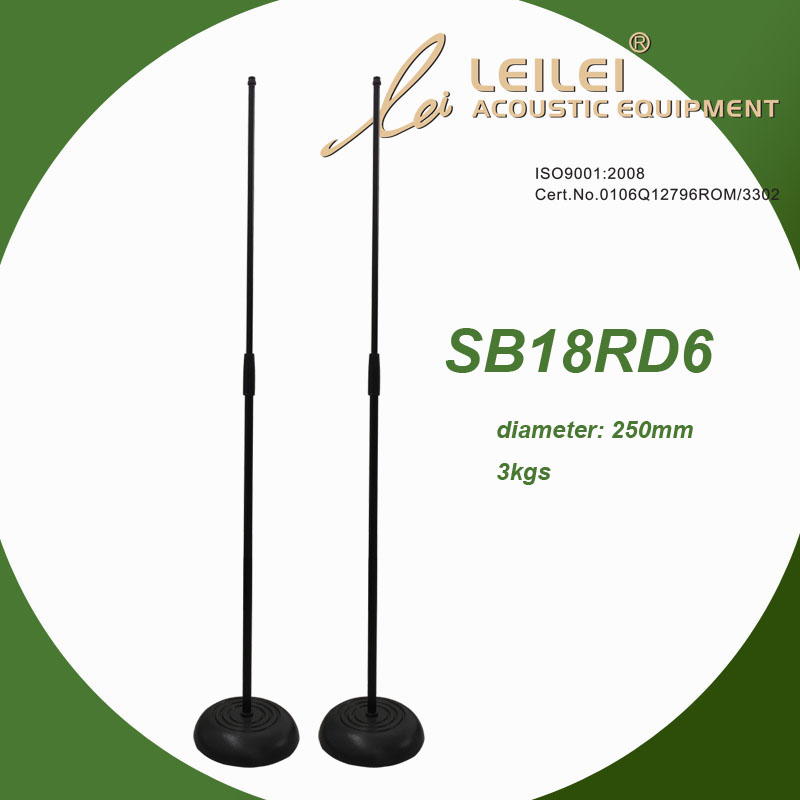 Height Adjustable Microphone Stand with round base