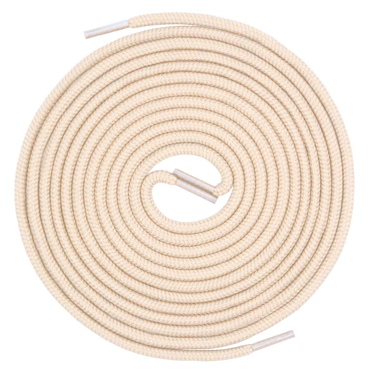 d030b3bfdd Buy VSUDO 2Pairs Beige Round Shoelaces, 5/32 Thick Shoe Laces for ...