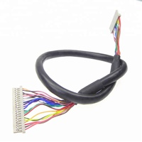 "20 pin LVDS cable DF14-20P 1ch 8bit for 14.1"" 15"" 1024x768 LCD Screen"