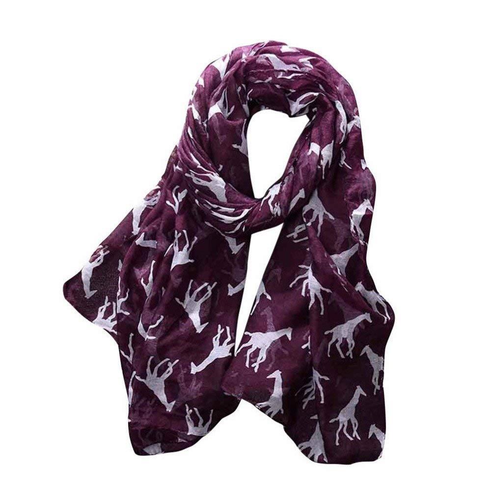 Wrap scarf, Mitsutomi Women Ladies Giraffe Print Pattern Long Scarf Warm Wrap Shawl