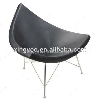 Superbe Modern Living Room Lounge Furniture Armchair Fiberglass Black White Genuine  Leather Triangle Lounge Chair Coconut Chair