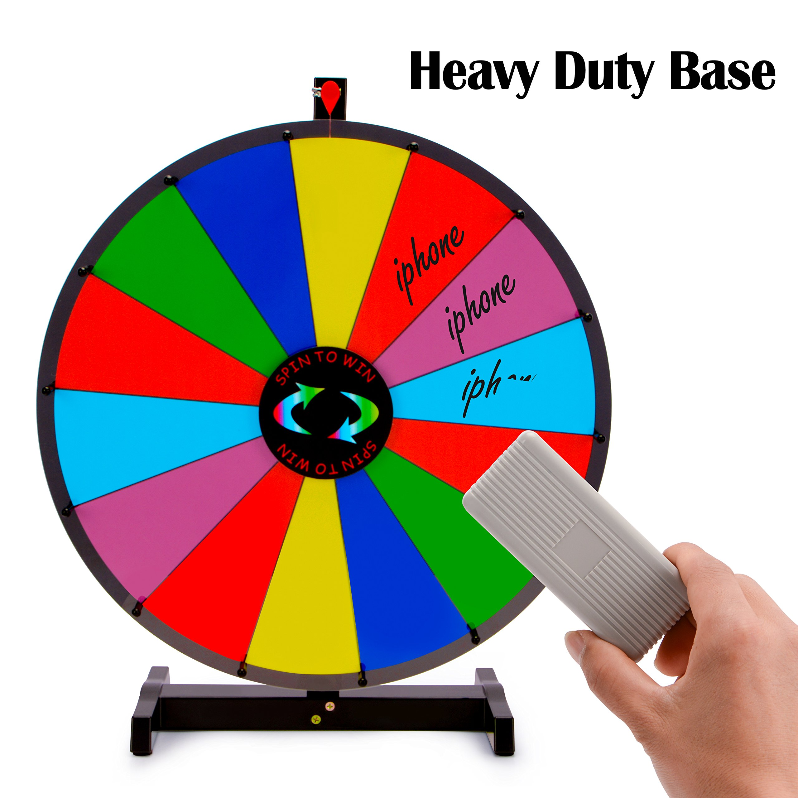 24 Tabletop Color Dry Erase Spinning Prize Wheel 14 Slot W Aluminum Stand Diy Customize Template For Fortune Tradeshow Desk Top Casino Style Drawing Game Sports Fitness Casino Prize Wheels Tutiflores Com Br