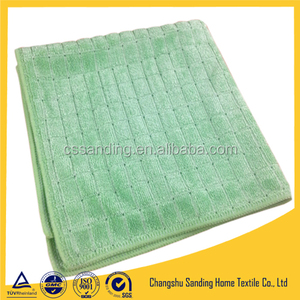 Microfiber Weft Knit Shiny Check Towel, Shiny Cleaning Towel