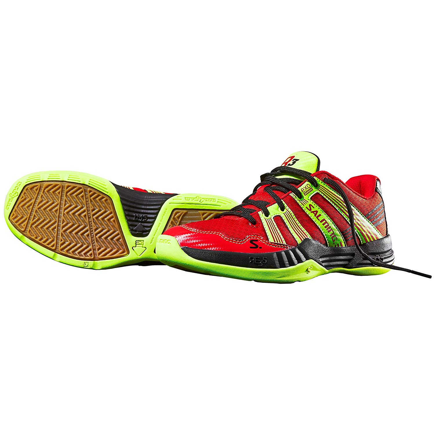 Salming Race R3 3.0 Indoor Shoes Handball Trainers red/neon/black