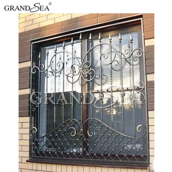 Modern House Safety Intergrated Simple Steel Window Grill Design
