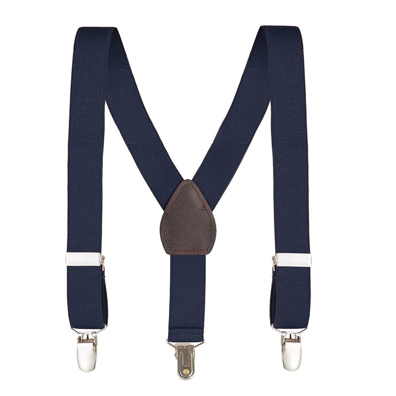 kid N' me Boys And Girls Kids Toddlers and baby Adjustable Elastic Solid Suspenders