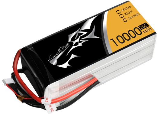 High Multiplying Power UAV LIPO Battery 10000mAh 22.2V 25C XTA10 Series