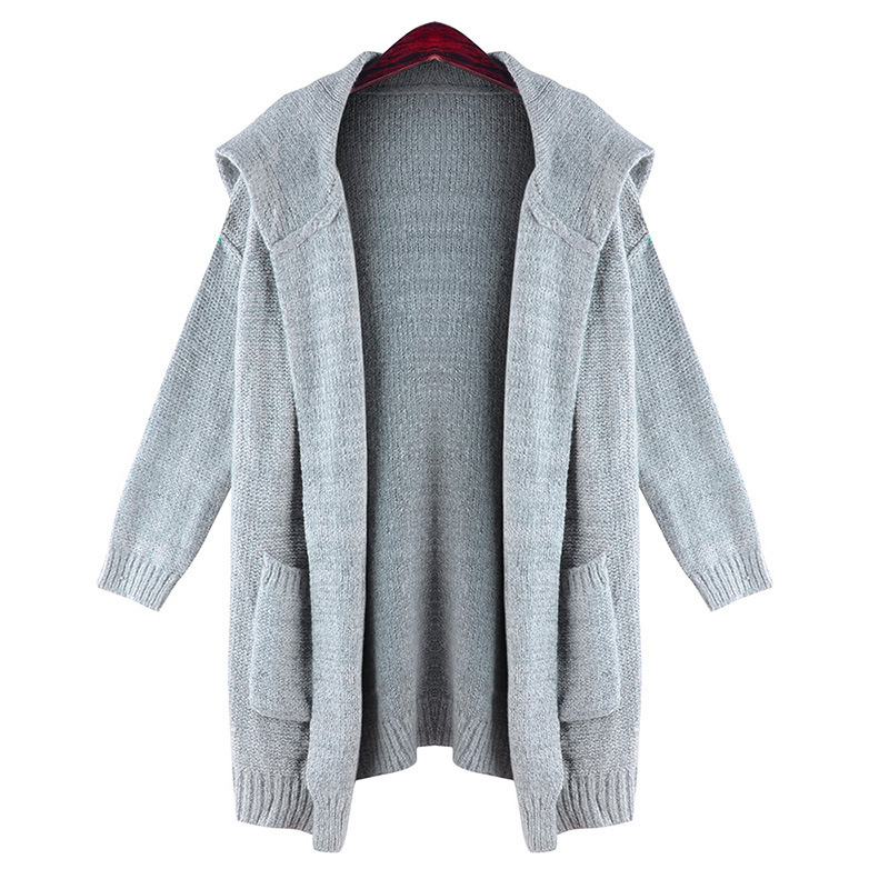 Cheap Grey Hooded Cardigan Women, find Grey Hooded Cardigan Women ...