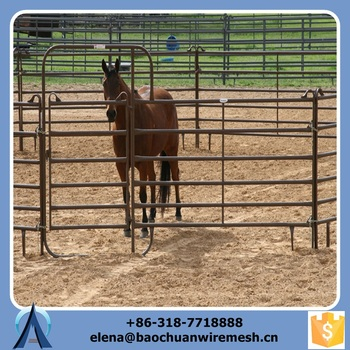 galvanized mobile barrier and horse paddock fence