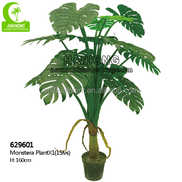 Indoor Home Decorative Trees Plant Type And Plastic Material Artificial Leaf Plants Large Diffe Types Of