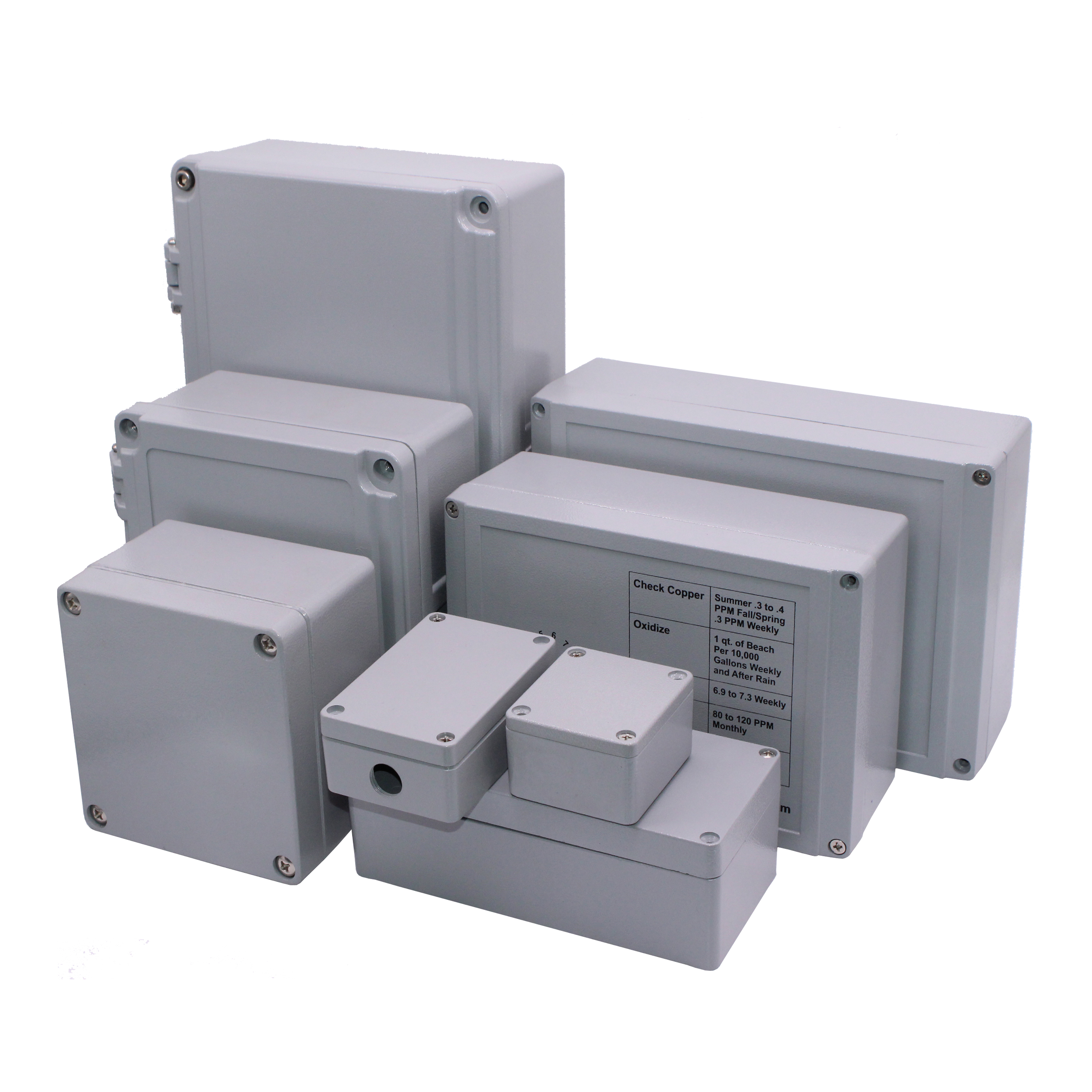 IP67 aluminum die cast enclosure/metal junction box