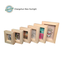 Shadow box handmade Solidwood picture frame wood photo frame for home table or wall decotation