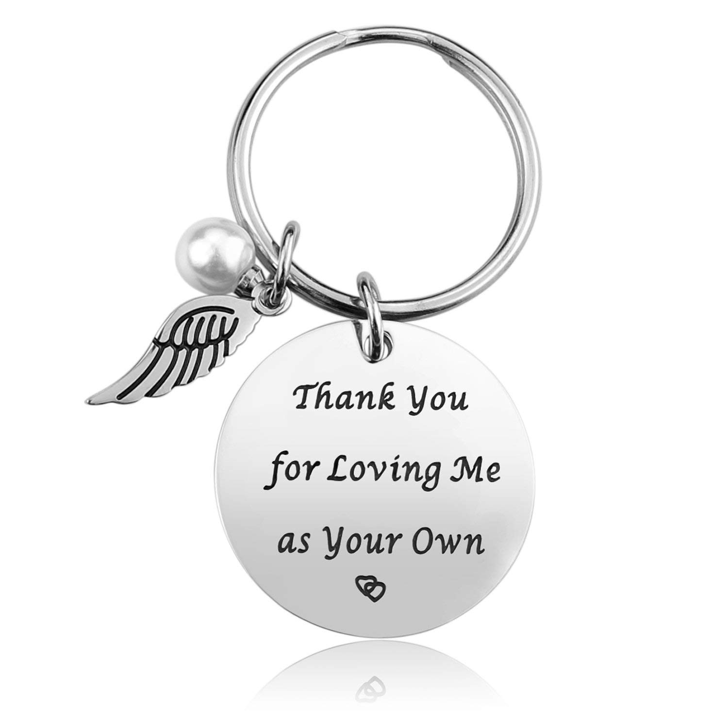 Step Mother Mom Keychain Gifts - Mom Gift idea for Mothers Day from Husband Daughter Son Kids, Stainless Steel Jewelry, with Gift Box, Birthday Gifts for Women Wife Christmas Valentines Gifts