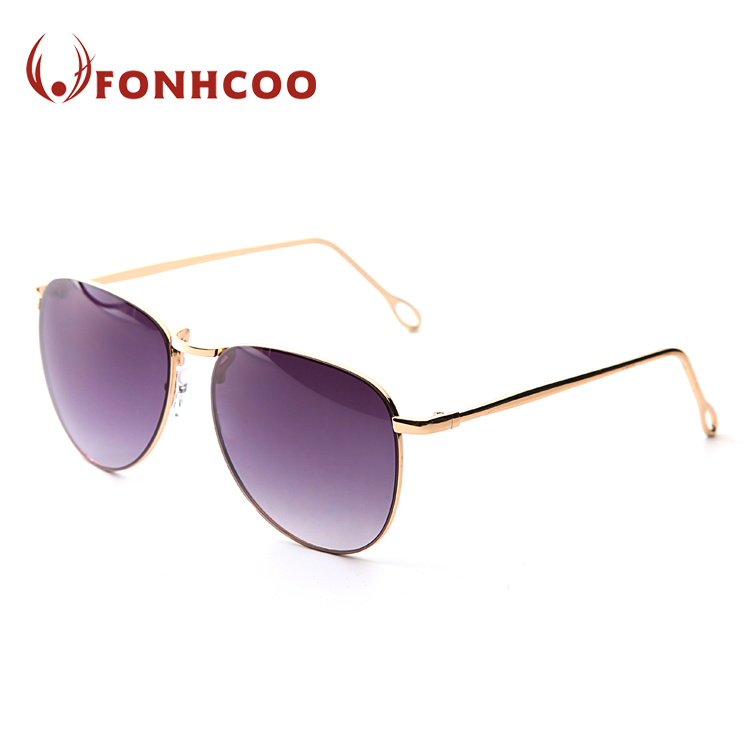 FONHCOO Cheap Wholesale Fashion Purple Lens Metal Sunglasses