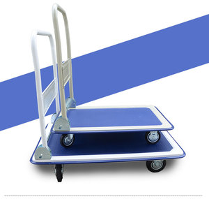 High quality heavy duty iron foldable platform trolley iron handle trolley