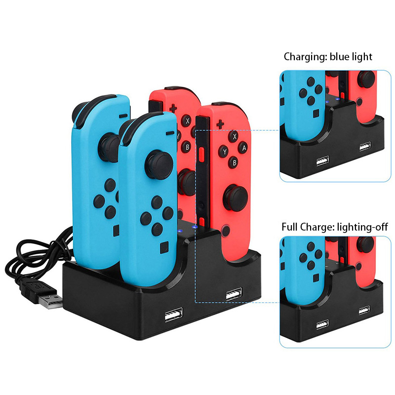 Charging Dock Charger Stand for Nintendo Switch Joy-Con