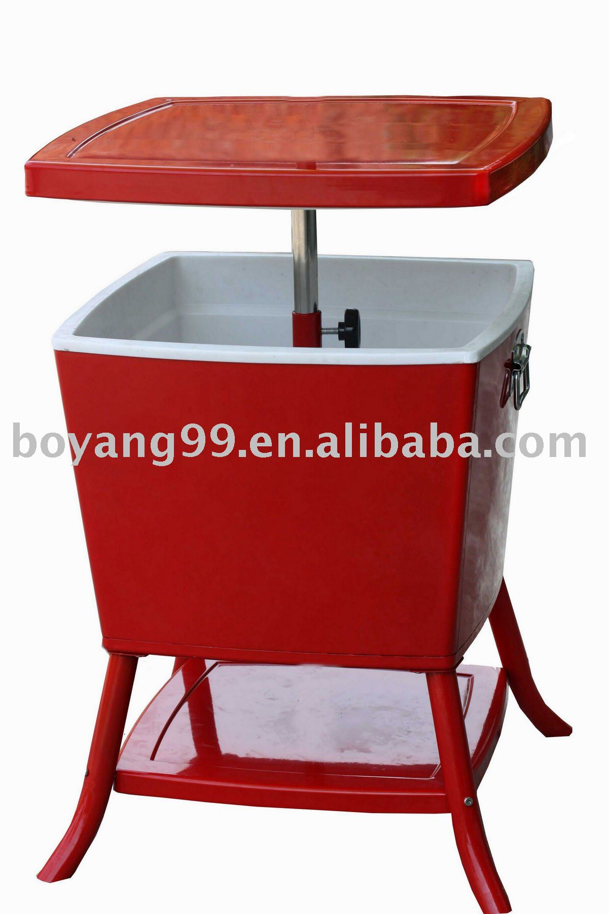 outdoor boat-shape ice bar cooler table