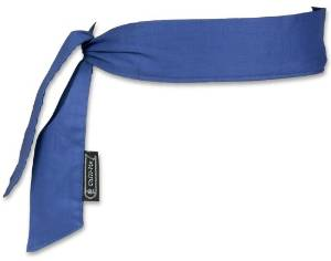 CHILL-ITS COOLING BANDANA/HEADBAND - SOLID BLUE - 6 PIECE PACK