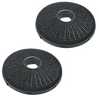 Qualtex 2X 190Mm Round Charcoal Cooker Hood Carbon Filters Compatible With Brandt Cooker Hoods