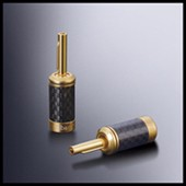 hifi Carbon Fiber Copper Rhodium Plated RCA Plug Connector