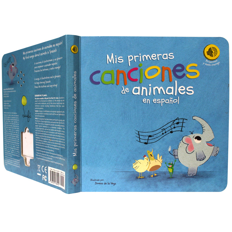 Top hot sales children push button sound books with hardcover board booiks for kids education