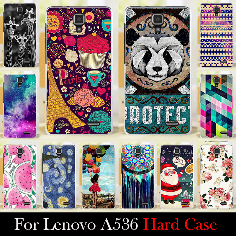 For LENOVO A536 Case Hard Plastic Mobile Phone Cover Case DIY Color Paitn Cellphone Bag Shell