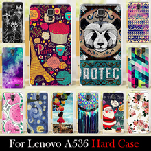 For LENOVO A536 Case Hard Plastic Mobile Phone Cover Case DIY Color Paitn Cellphone Bag Shell  Shipping Free