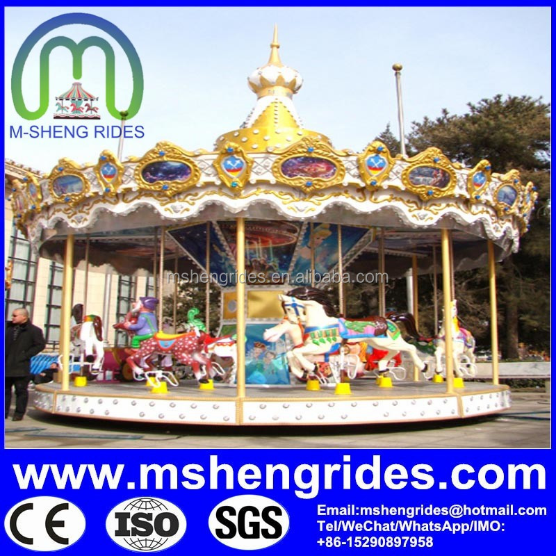 Amusement game machine commercial carousel shows carousel horse sale factory price