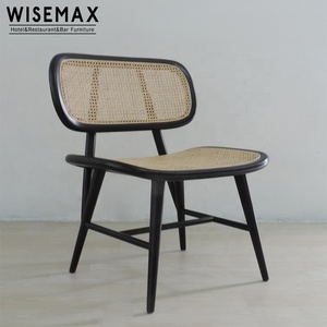 Wholesale vintage handmade wooden dining room wicker chair rattan chair without cushion garden livingroom chair